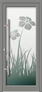Hliníkové dvere s celosklenenou výplňou VV-850-GLP18 pieskované