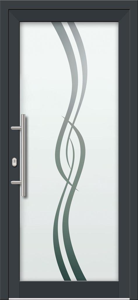 Hliníkové dvere s celosklenenou výplňou VV-850-GLP19 pieskované