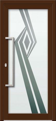 Hliníkové dvere s celosklenenou výplňou VV-850-GLP20 pieskované