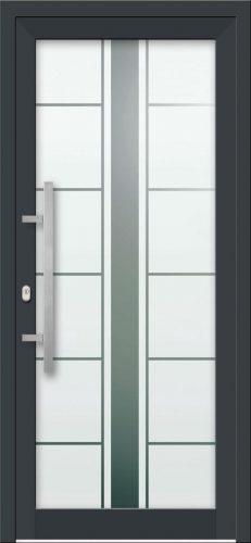 Hliníkové dvere s celosklenenou výplňou VV-850-GLP21 pieskované