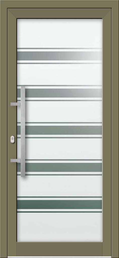 Hliníkové dvere s celosklenenou výplňou VV-850-GLP22 pieskované