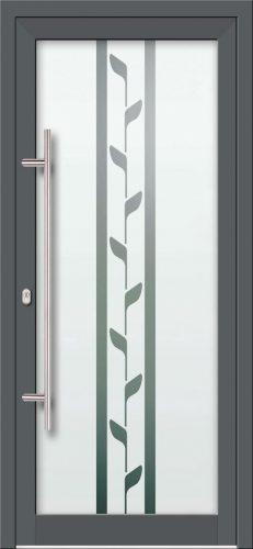 Hliníkové dvere s celosklenenou výplňou VV-850-GLP23 pieskované