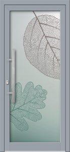 Hliníkové dvere s celosklenenou výplňou VV-850-GLW01 digitálne tlačené / striekané