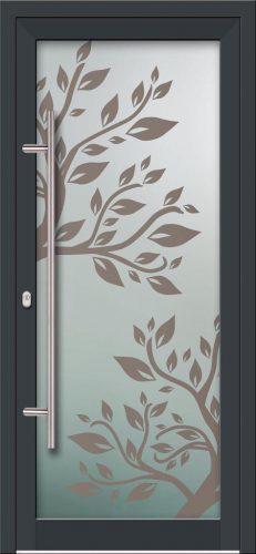 Hliníkové dvere s celosklenenou výplňou VV-850-GLW02 digitálne tlačené / striekané