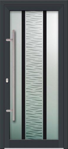 Hliníkové dvere s celosklenenou výplňou VV-850-GLW03 digitálne tlačené / striekané