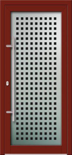 Hliníkové dvere s celosklenenou výplňou VV-850-GLW04 digitálne tlačené / striekané