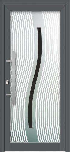 Hliníkové dvere s celosklenenou výplňou VV-850-GLW06 digitálne tlačené / striekané