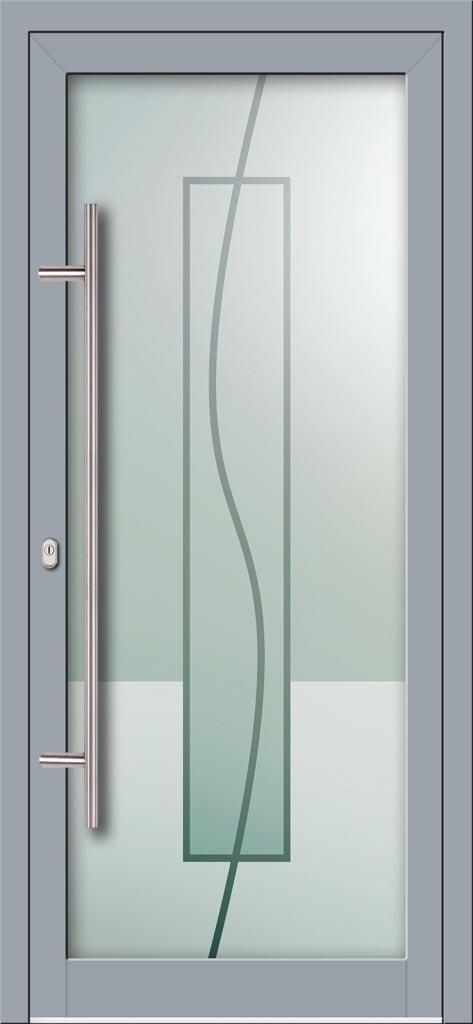 Hliníkové dvere s celosklenenou výplňou VV-850-GLW07 digitálne tlačené / striekané