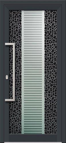 Hliníkové dvere s celosklenenou výplňou VV-850-GLW08 digitálne tlačené / striekané