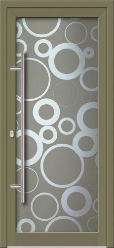 Hliníkové dvere s celosklenenou výplňou VV-850-GLW09 digitálne tlačené / striekané