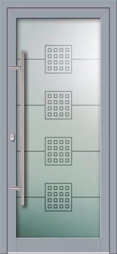 Hliníkové dvere s celosklenenou výplňou VV-850-GLW10 digitálne tlačené / striekané
