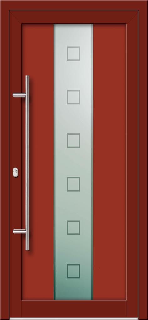 Hliníkové dvere s celosklenenou výplňou VV-850-GLW15 digitálne tlačené / striekané