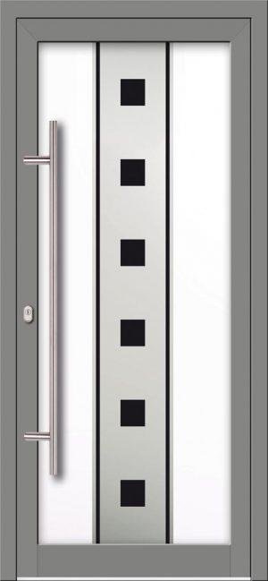Hliníkové dvere s celosklenenou výplňou VV-850-GLW16 digitálne tlačené / striekané