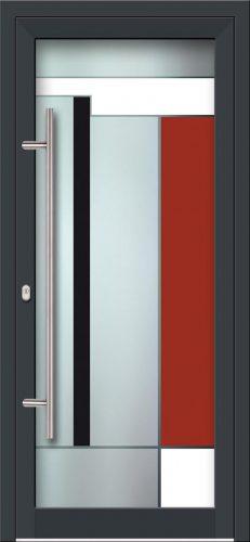 Hliníkové dvere s celosklenenou výplňou VV-850-GLW17 digitálne tlačené / striekané
