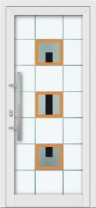 Hliníkové dvere s celosklenenou výplňou VV-850-GLW18 digitálne tlačené / striekané
