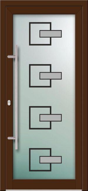 Hliníkové dvere s celosklenenou výplňou VV-850-GLW21 digitálne tlačené / striekané