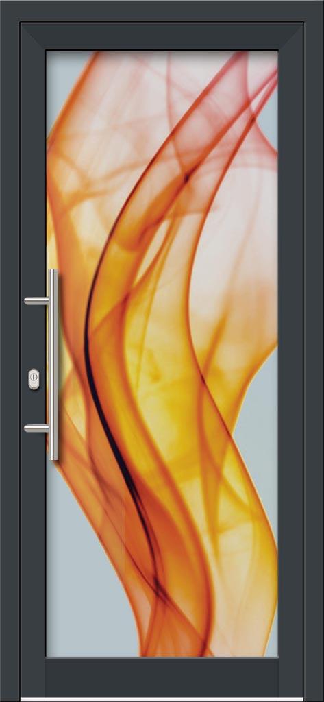 Hliníkové dvere s celosklenenou výplňou VV-850-GLW22 digitálne tlačené / striekané