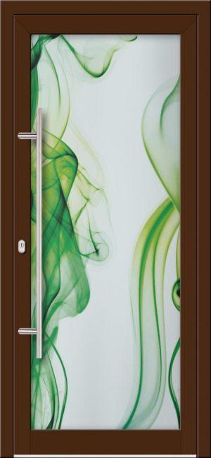 Hliníkové dvere s celosklenenou výplňou VV-850-GLW23 digitálne tlačené / striekané