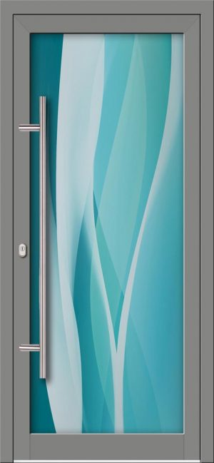 Hliníkové dvere s celosklenenou výplňou VV-850-GLW24 digitálne tlačené / striekané