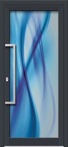 Hliníkové dvere s celosklenenou výplňou VV-850-GLW25 digitálne tlačené / striekané