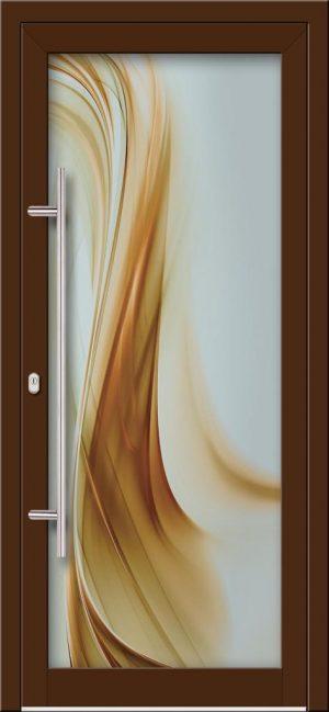Hliníkové dvere s celosklenenou výplňou VV-850-GLW26 digitálne tlačené / striekané