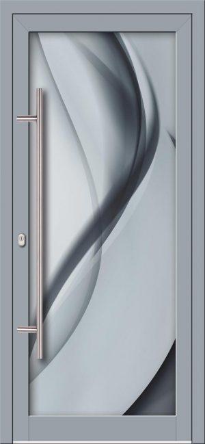Hliníkové dvere s celosklenenou výplňou VV-850-GLW27 digitálne tlačené / striekané