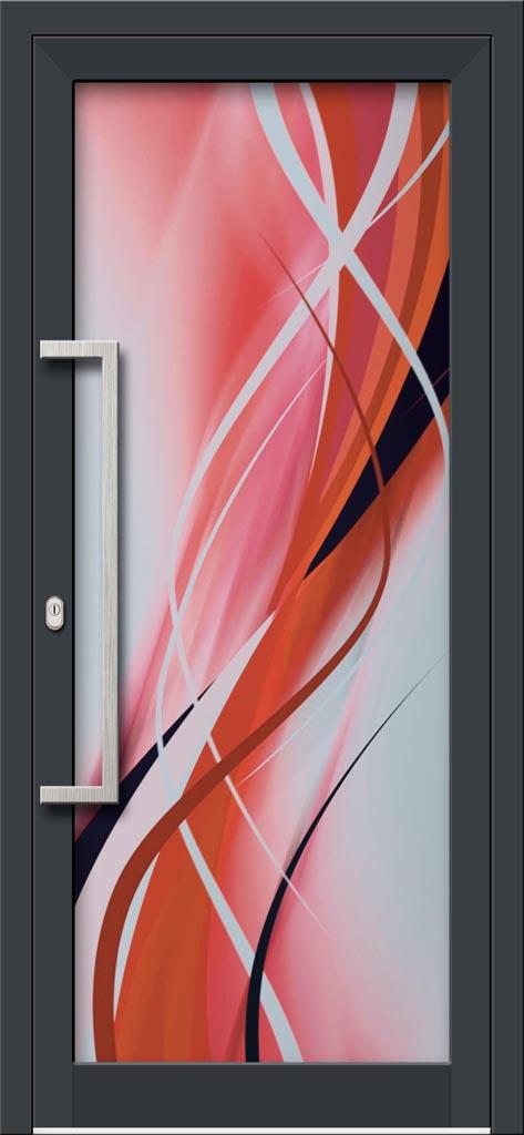 Hliníkové dvere s celosklenenou výplňou VV-850-GLW28 digitálne tlačené / striekané