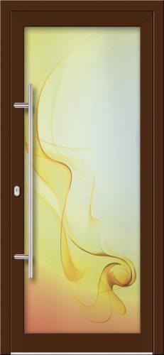 Hliníkové dvere s celosklenenou výplňou VV-850-GLW29 digitálne tlačené / striekané