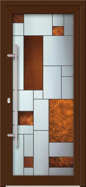 Hliníkové dvere s celosklenenou výplňou VV-850-GLW32 digitálne tlačené / striekané