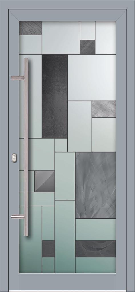 Hliníkové dvere s celosklenenou výplňou VV-850-GLW33 digitálne tlačené / striekané