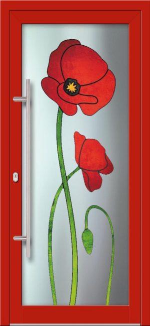 Hliníkové dvere s celosklenenou výplňou VV-850-GLW34 digitálne tlačené / striekané