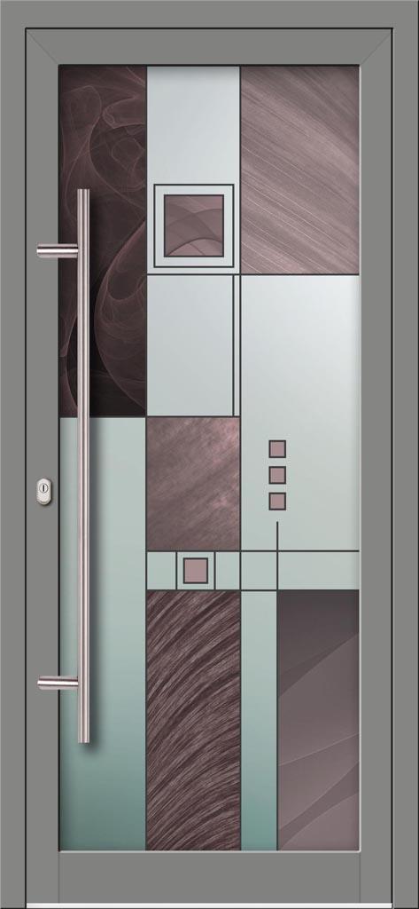Hliníkové dvere s celosklenenou výplňou VV-850-GLW35 digitálne tlačené / striekané