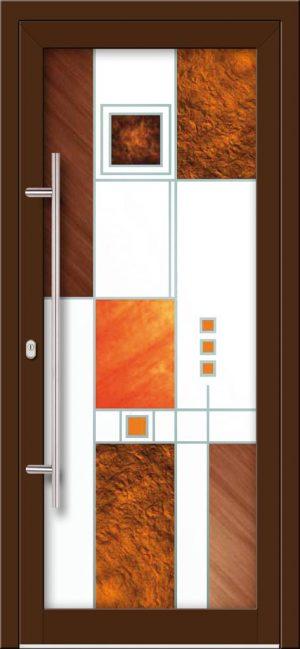 Hliníkové dvere s celosklenenou výplňou VV-850-GLW36 digitálne tlačené / striekané