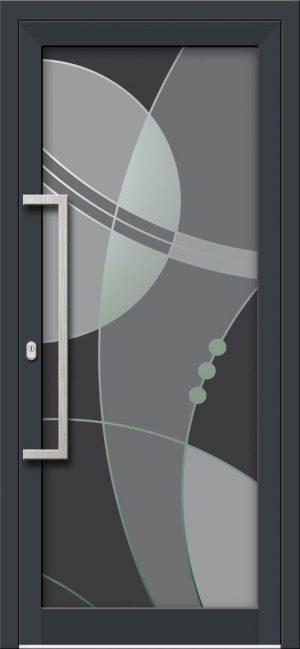 Hliníkové dvere s celosklenenou výplňou VV-850-GLW37 digitálne tlačené / striekané