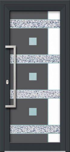 Hliníkové dvere s celosklenenou výplňou VV-850-GLW39 digitálne tlačené / striekané