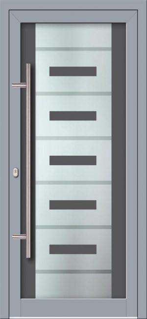 Hliníkové dvere s celosklenenou výplňou VV-850-GLW41 digitálne tlačené / striekané