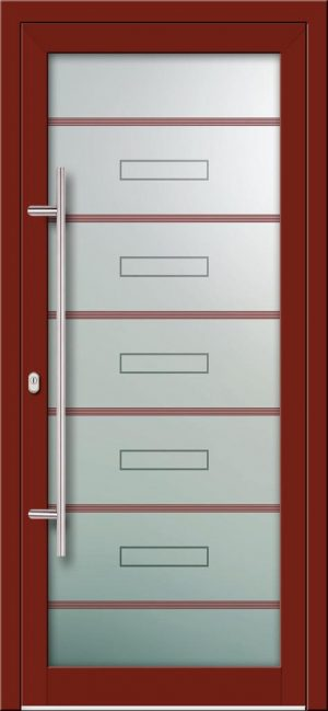 Hliníkové dvere s celosklenenou výplňou VV-850-GLW42 digitálne tlačené / striekané