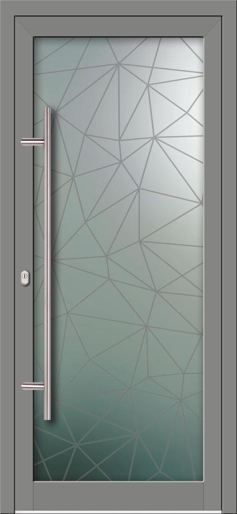 Hliníkové dvere s celosklenenou výplňou VV-850-GLW45 digitálne tlačené / striekané