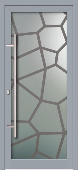 Hliníkové dvere s celosklenenou výplňou VV-850-GLW47 digitálne tlačené / striekané