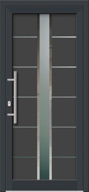 Hliníkové dvere s celosklenenou výplňou VV-850-GLW48 digitálne tlačené / striekané