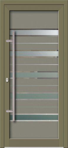 Hliníkové dvere s celosklenenou výplňou VV-850-GLW50 digitálne tlačené / striekané