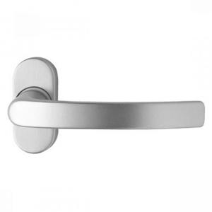Kľučka Alba na oválnej rozete pre hliníkové vchodové dvere