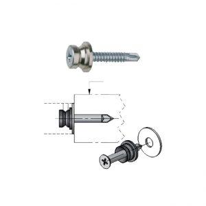 spojovací materiál jednostranný na upevnenie madla pre hliníkové dvere