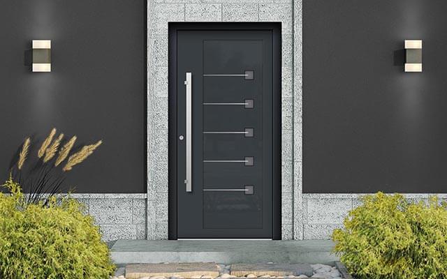 Vchodové hliníkové dvere Evolution na mieru s montážou po celom Slovensku
