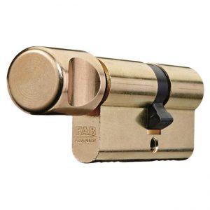 bezpečnostná vložka FAB 202RS s gombíkom pre hliníkové dvere