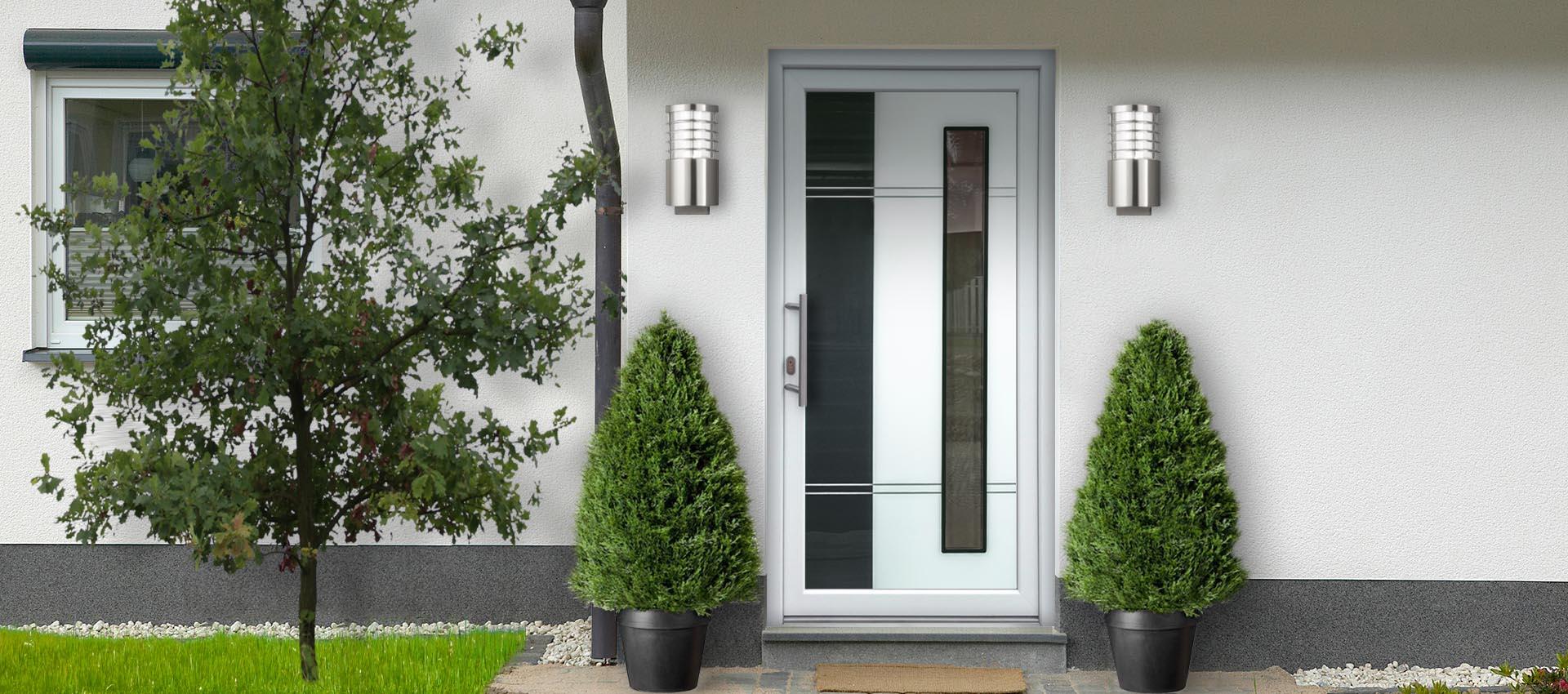 Sklo-hliníková dverná výplň Evolution EV-955. Možnosť vyhotovenia ako kompletné hliníkové vchodové dvere na mieru.