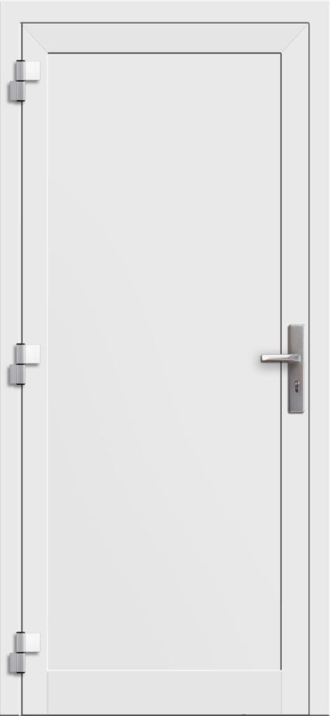 Hliníkové dvere so sklo-hliníkovou výplňou Evolution EV-949 (interiérový pohľad)