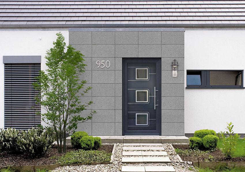Sklo-hliníková dverná výplň Evolution EV-957. Možnosť vyhotovenia ako kompletné hliníkové dvere na mieru.