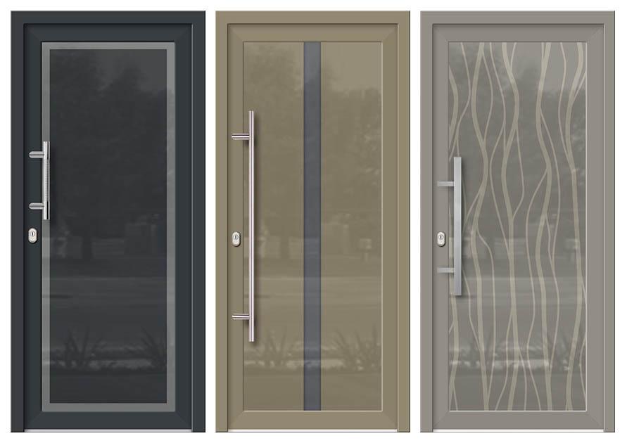 Nové modely sklo-hliníkových dverných výplní Evolution. Možnosť vyhotovenia ako kompletné hliníkové dvere na mieru.