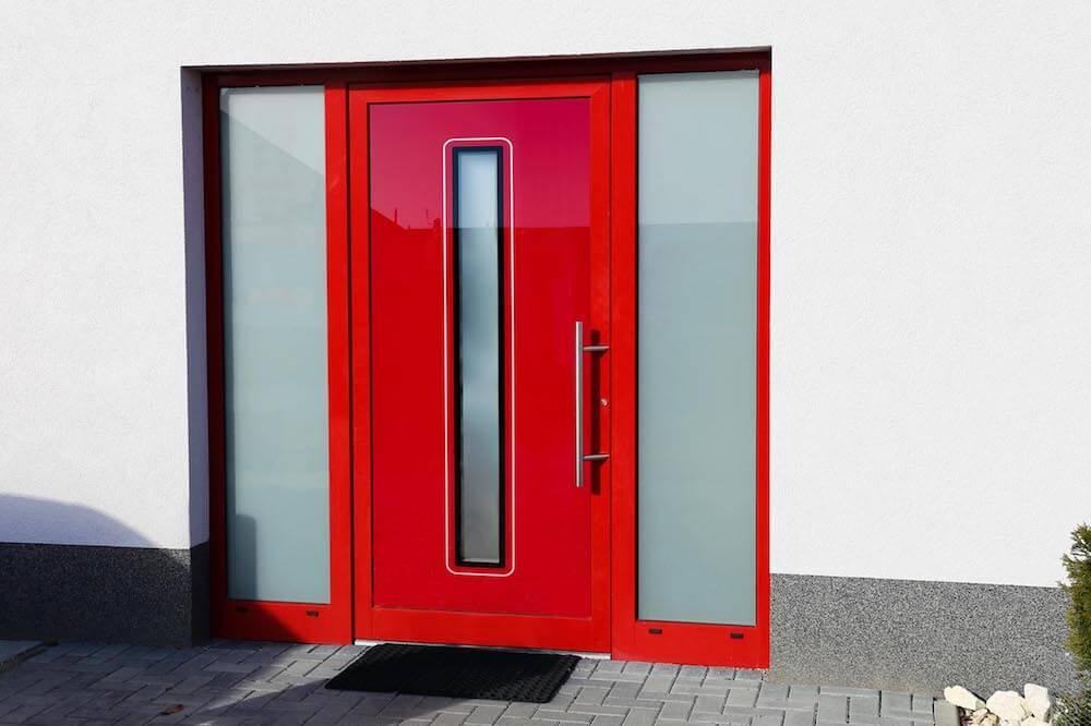 Sklo-hliníková dverná výplň Evolution EV-954. Možnosť vyhotovenia ako kompletné hliníkové dvere na mieru.